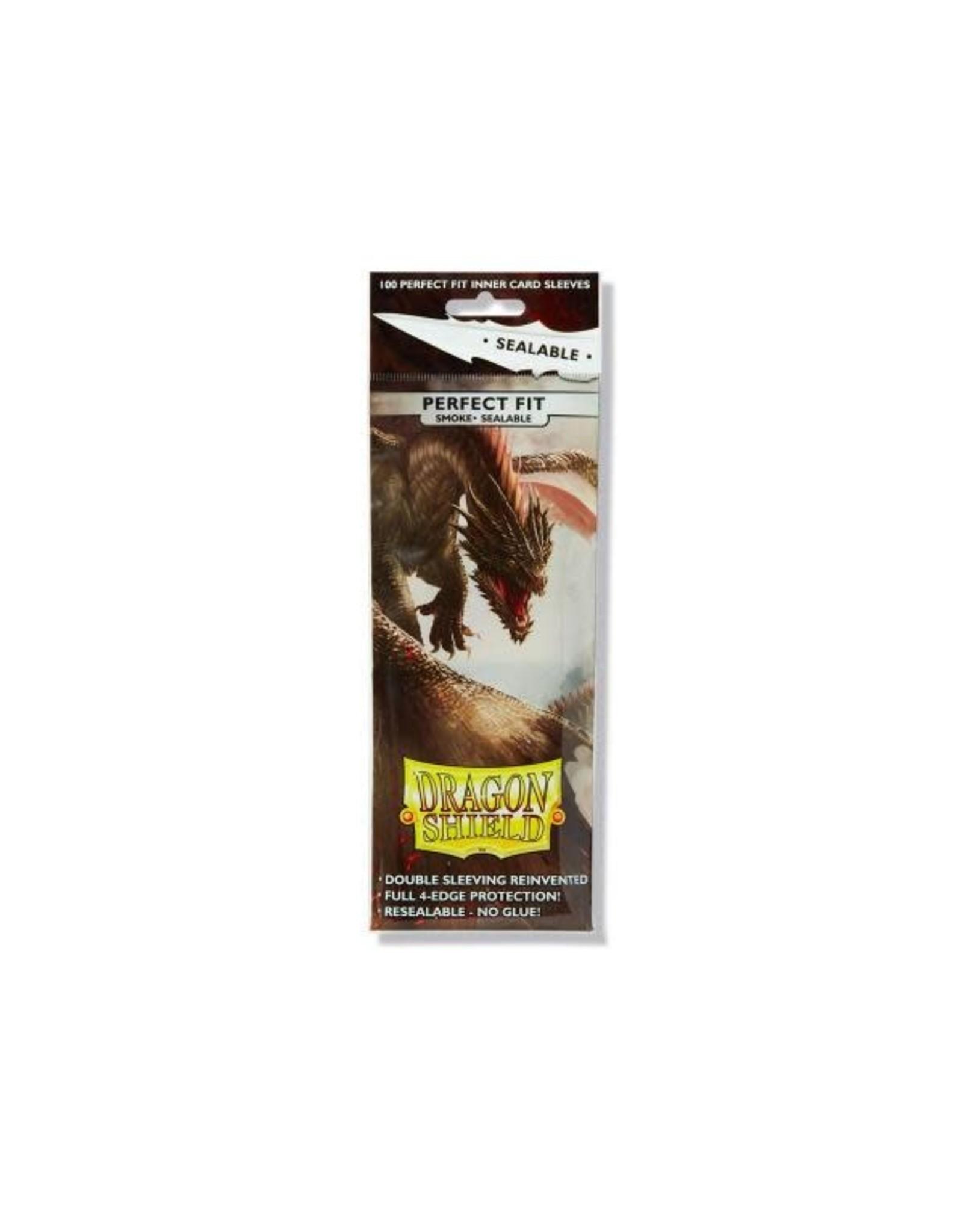 Dragon Shield Sleeves: Perfect Fit Sealable - Smoke