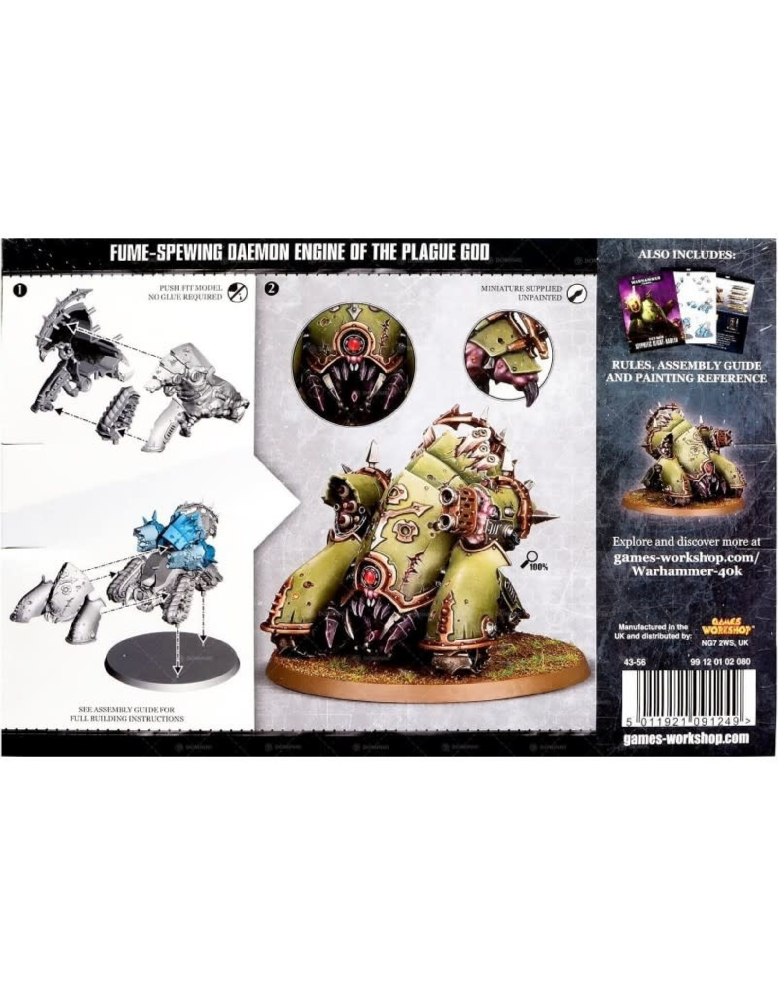 GW: Games Workshop GW: 40K: Easy to Build Death Guard Myphitic Blight-hauler