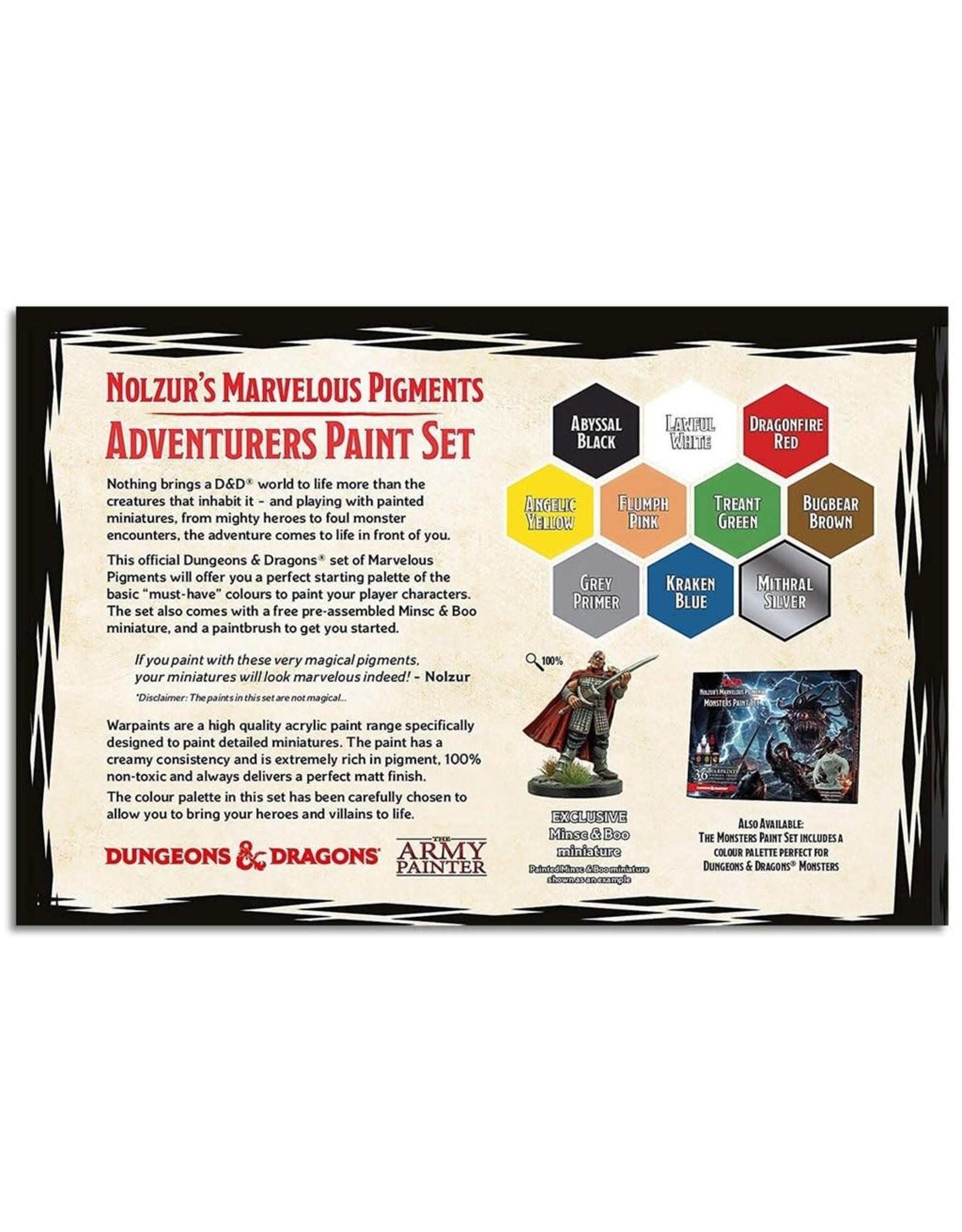 Army Painter Paint Set: D&D 5th Edition- Nolzur's Marvelous Pigments- The Adventurers Paint Set