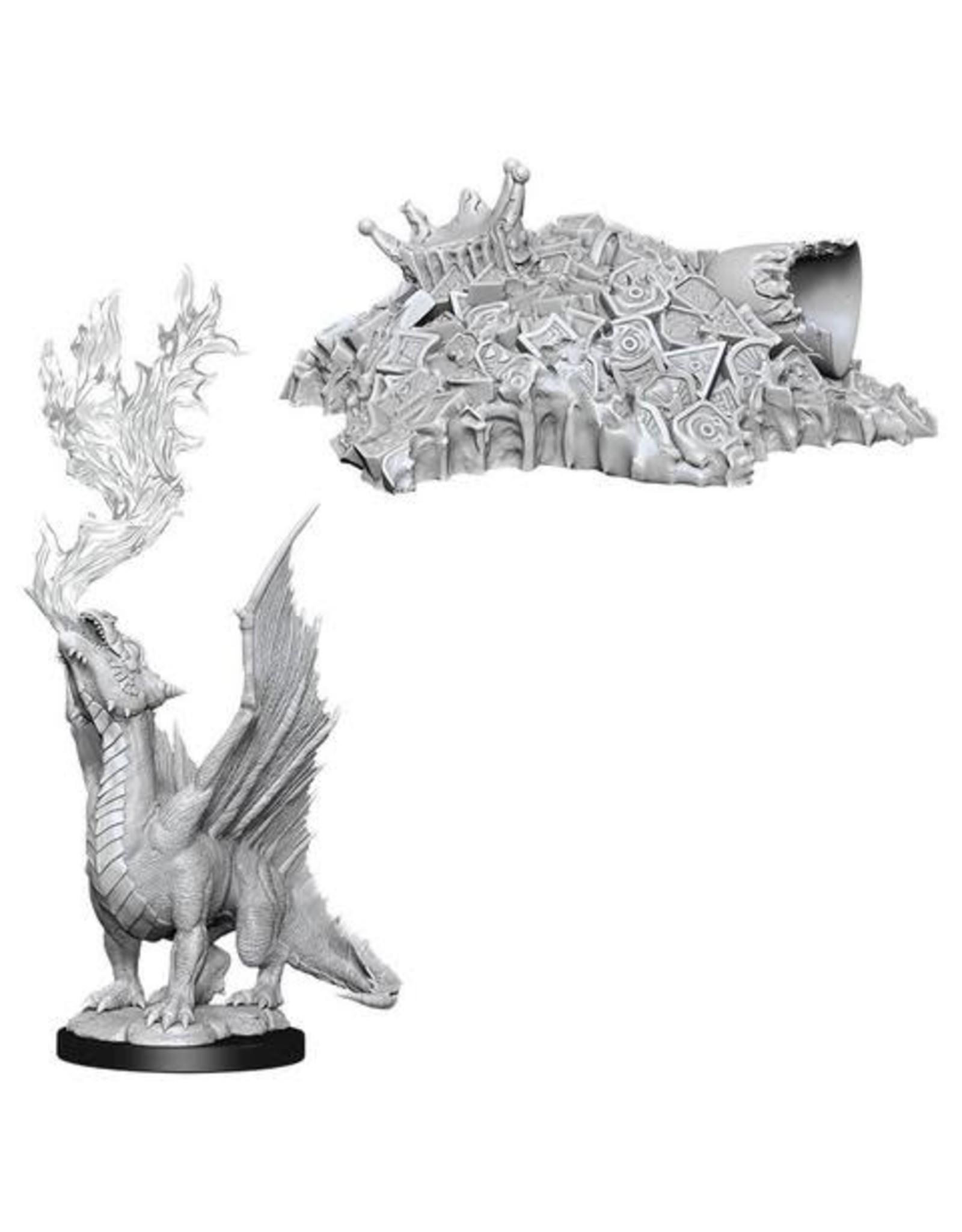 WizKids WZK: NMM: W11: Gold Dragon Wyrmling & Small Treasure Pile