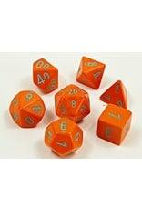 Chessex Chessex: 7-Die Set: Lab Dice: Heavy: Orange/turquoise