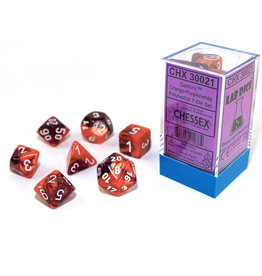 Chessex Chessex: 7-Die Set Gemini: Orange-Purple/White