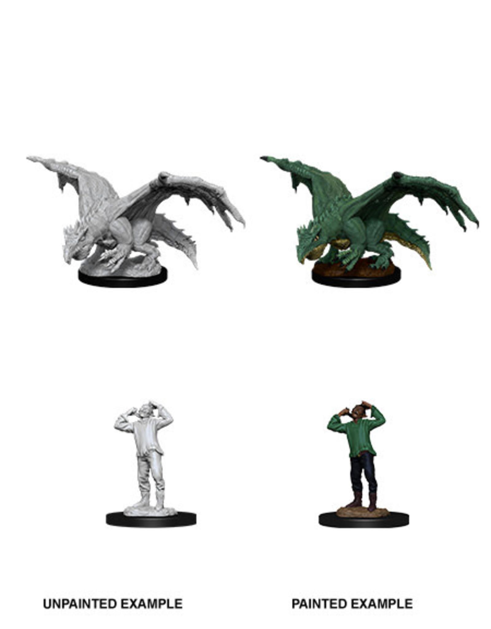WizKids WZK D&D Minis: W11: Green Dragon Wyrmling & Afflicted Elf
