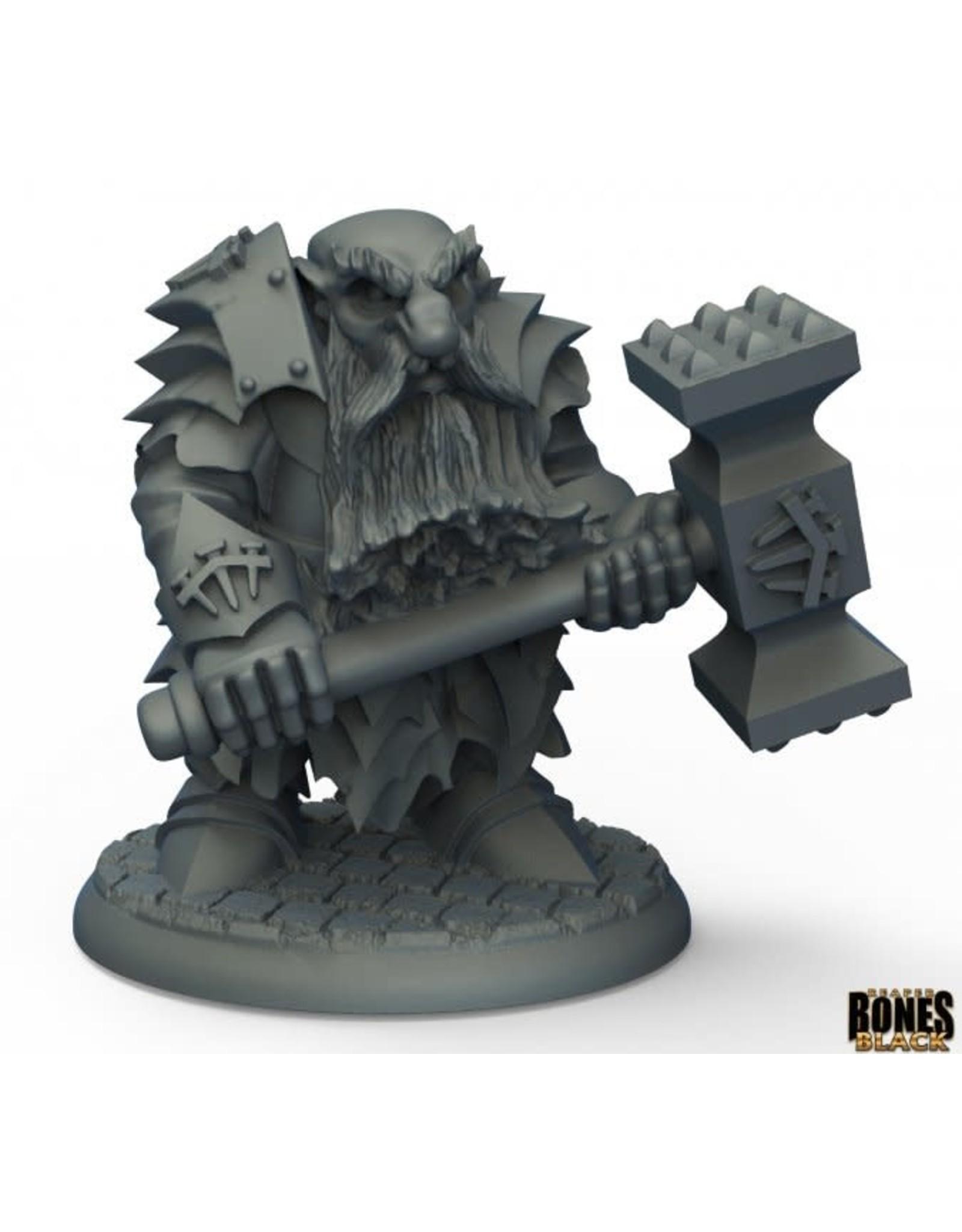 Reaper Reaper: Bones Black:  Dark Dwarf Pounder
