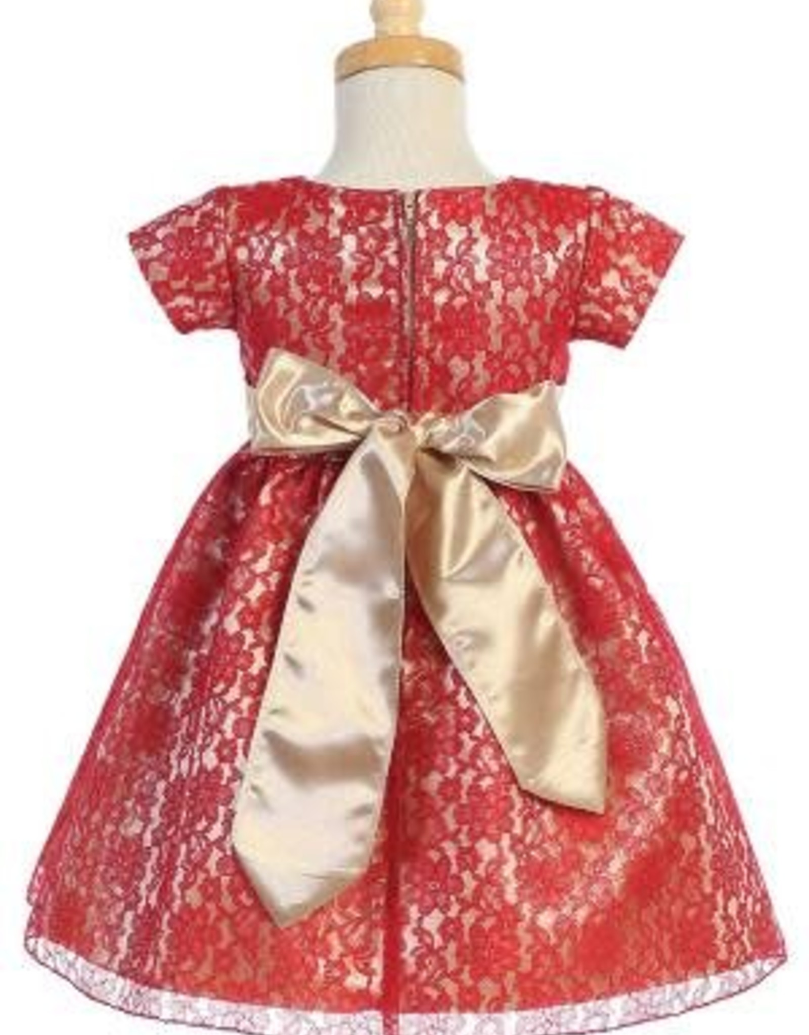 Red and Gold Holiday Dress