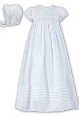 SS Cttn Smocked Gown White 3m