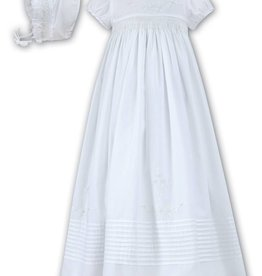 Cotton Smocked Gown Ivory -  3 Month Size