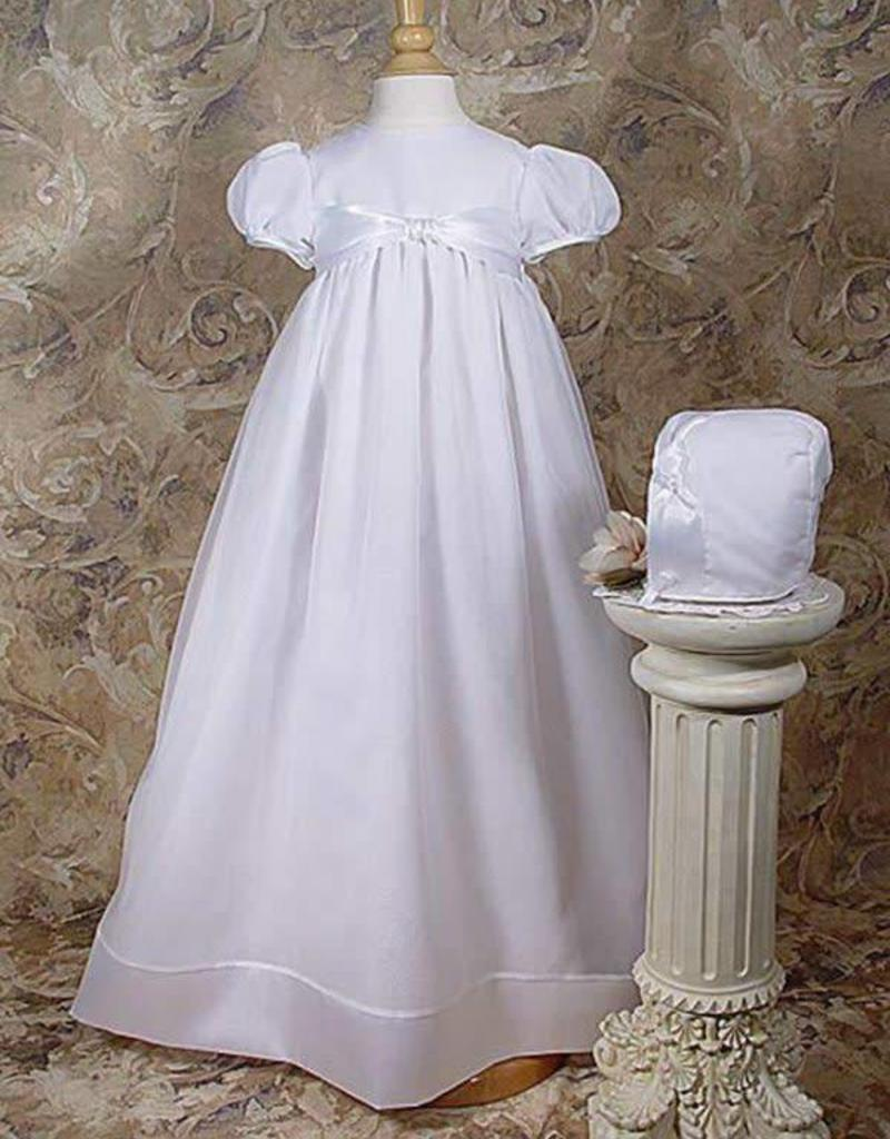 Knotted Ribbon Organza Gown - 3 Month Size