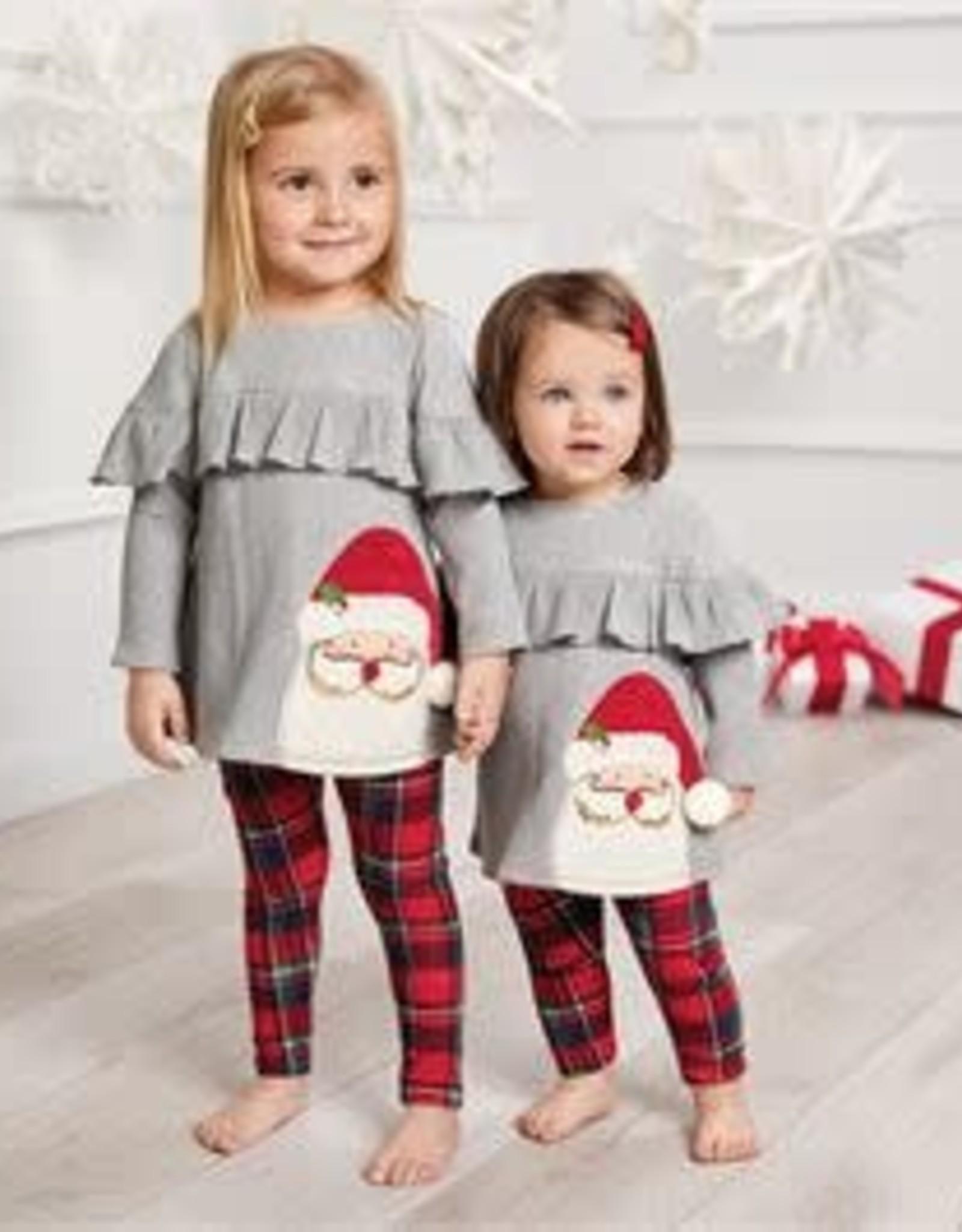 Tartan Santa Tunic & Legging Set 2T
