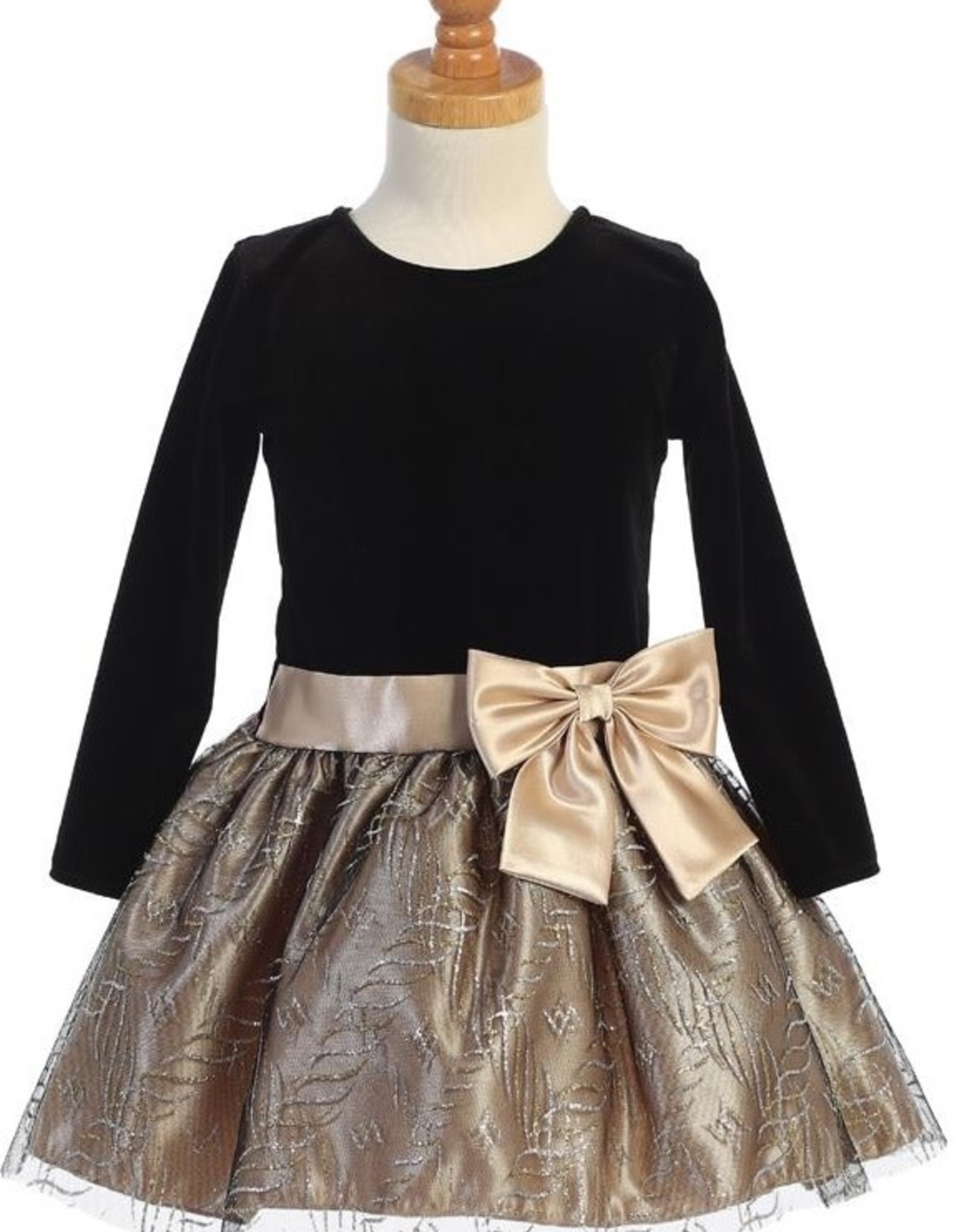 Gld Vlvt Glttr Drop Dress