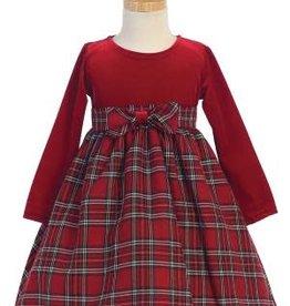 Red Vlvt Plaid Dress