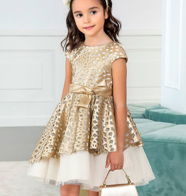 Abel & Lula Golden Poplin Dress