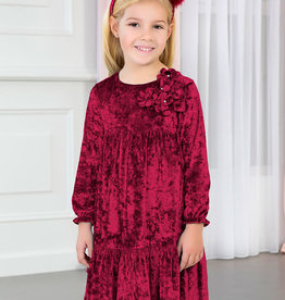 Abel & Lula Raspberry Velvet Dress