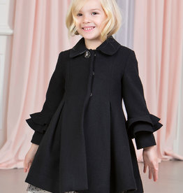 Abel & Lula Black cloth coat