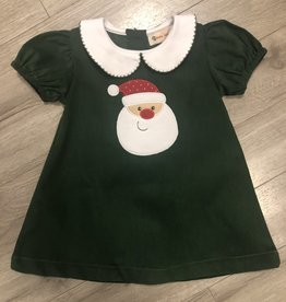 Girls Santa Drss Grn Cord