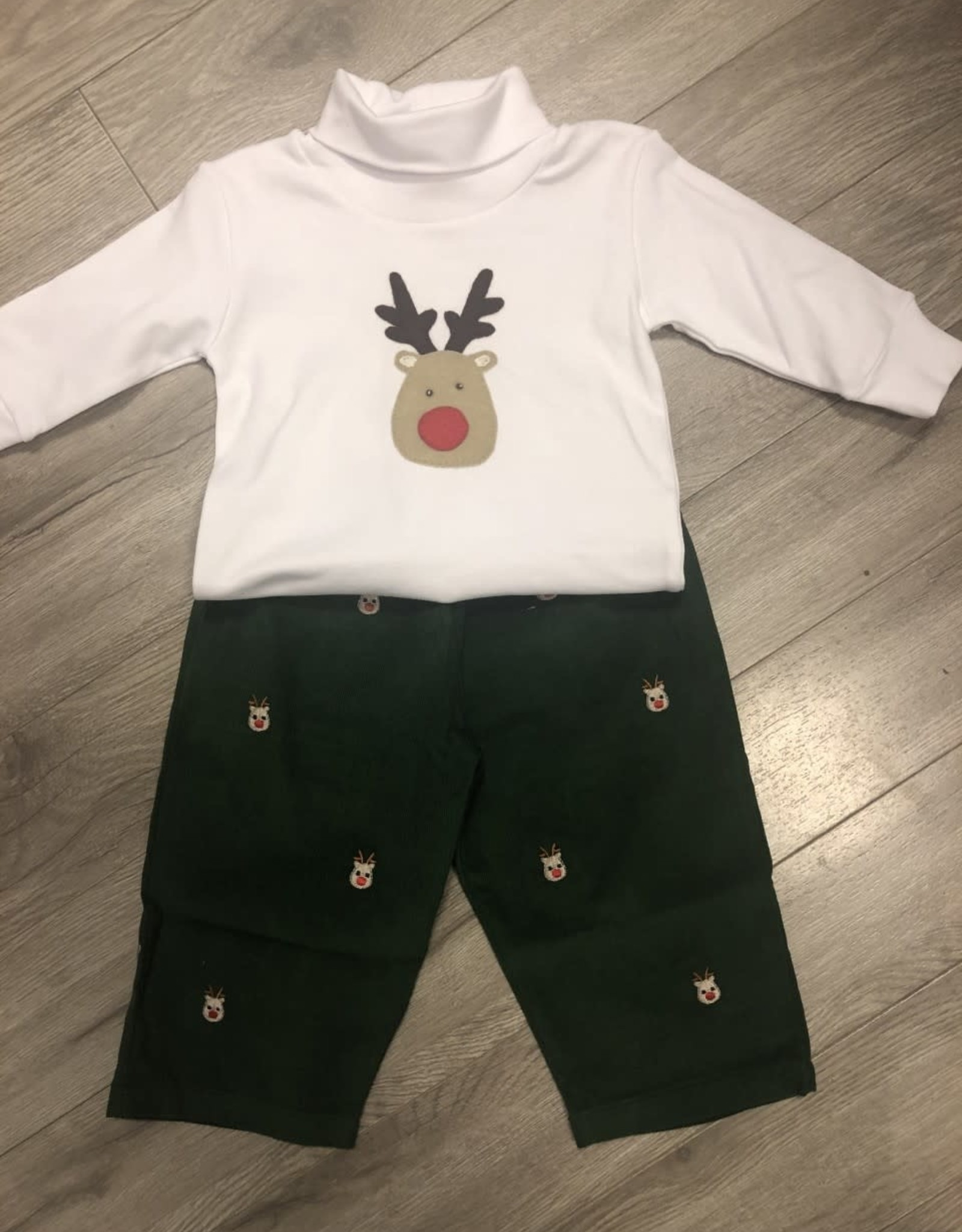 Reindeer Green Cord Set
