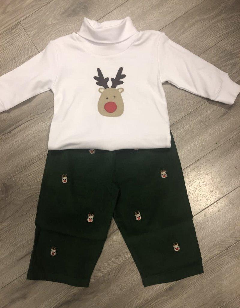 Reindeer Green Cord Set