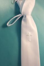 Wht Tie w/cross