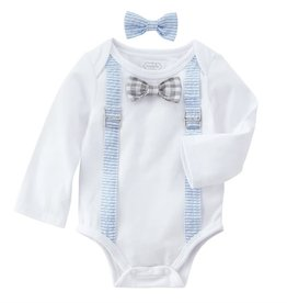Easter Crawler/Bow ties 3-6mos