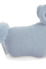 Knit Bunny rattle bl