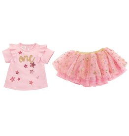 One Birthday Skirt Set 12-18mos