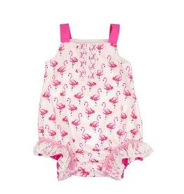 Haute Baby Flamingo Romper