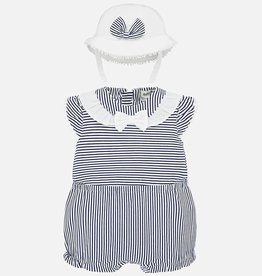 Nautical onesie/hat