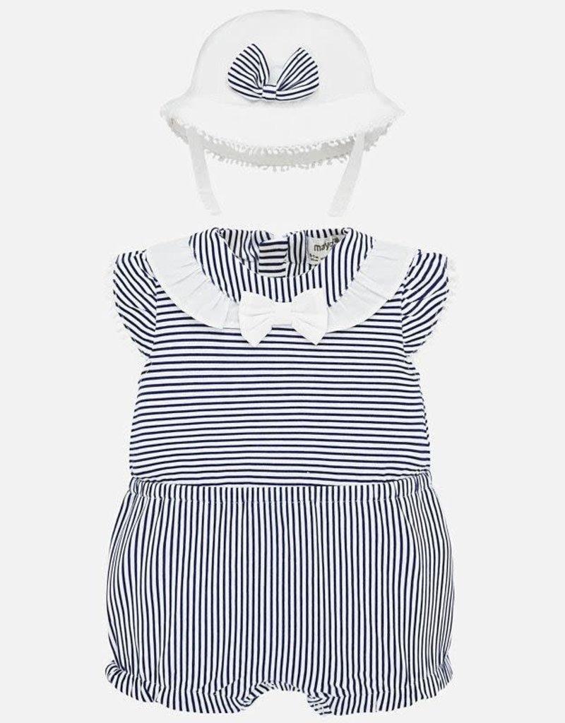 Nautical onesie/hat
