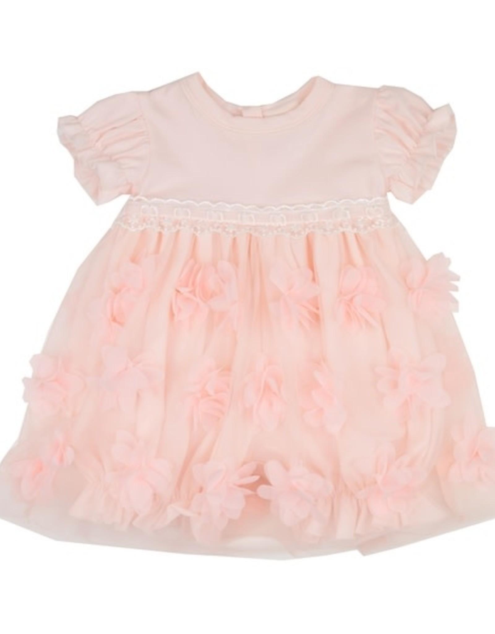 Haute Baby Peach Blossom Bubble Dress