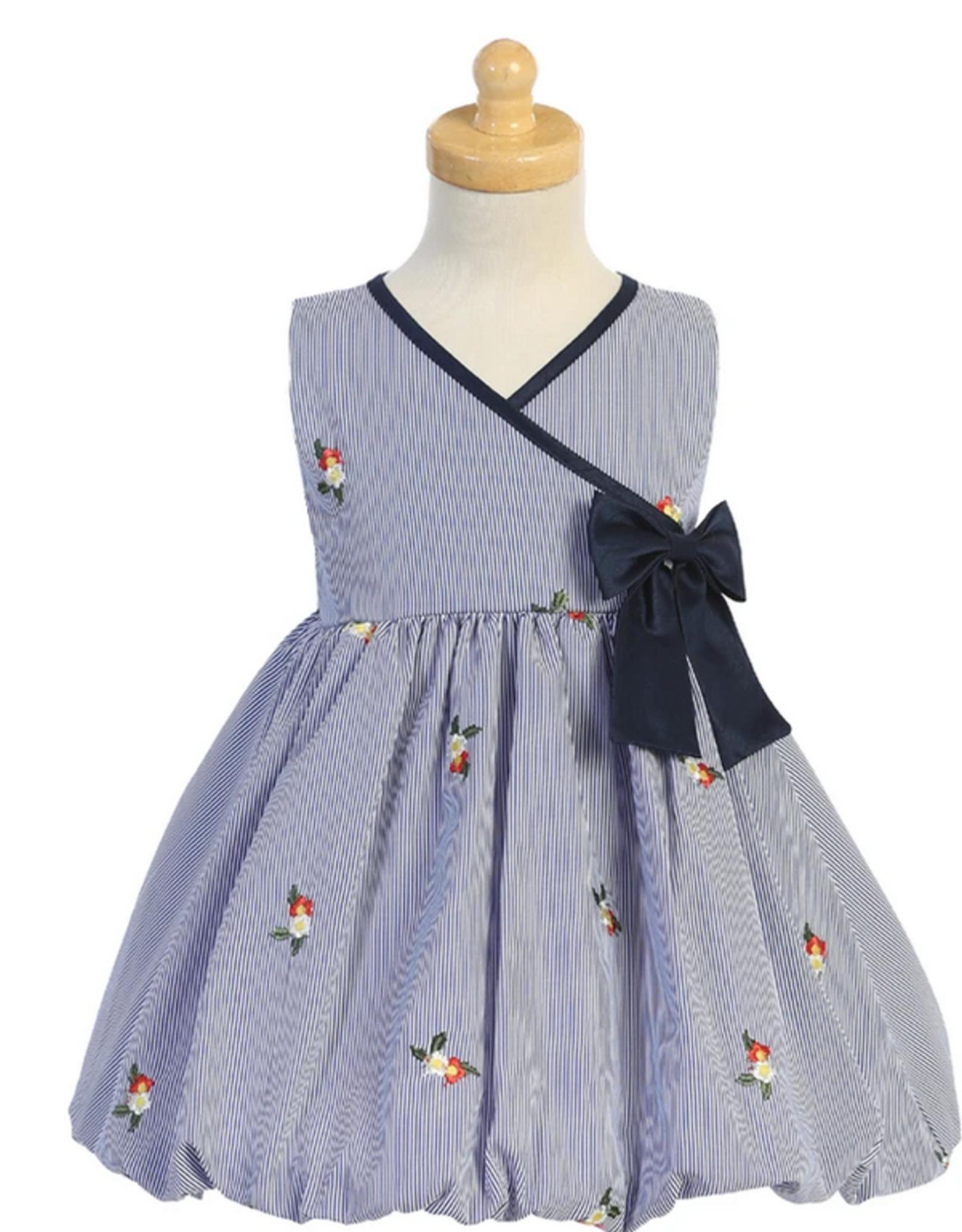 Poly Cotton Stripe Dress Girl