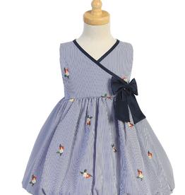 Poly Cotton Stripe Dress Toddler