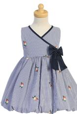 Poly Cotton Stripe Dress Baby
