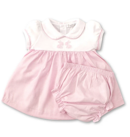 Kissy Kissy Pique Baby Bunnies Dress Set