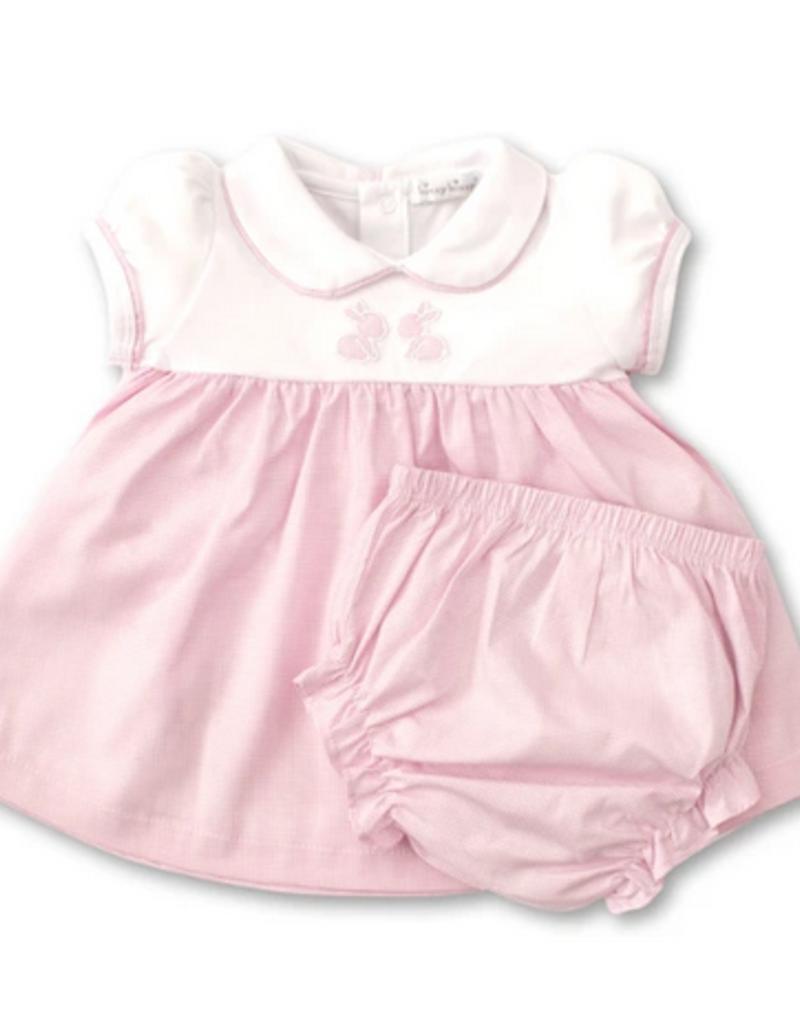 Kissy Kissy Pique Baby Bunnies Dress Set