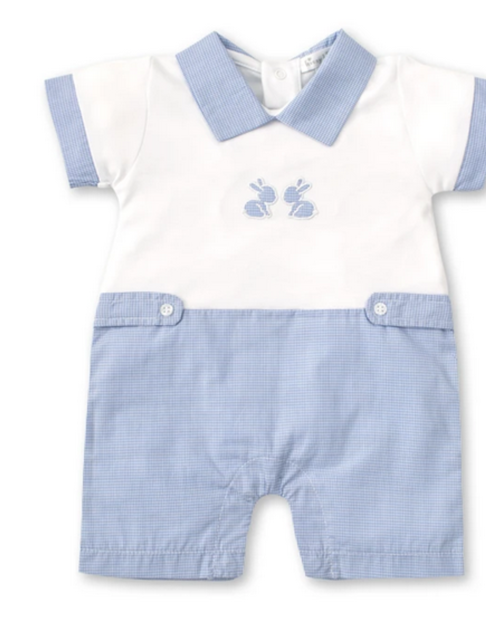 Kissy Kissy Pique Baby Bunnies Short Playsuit