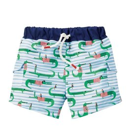 Alligator swim trunks w/rashguard