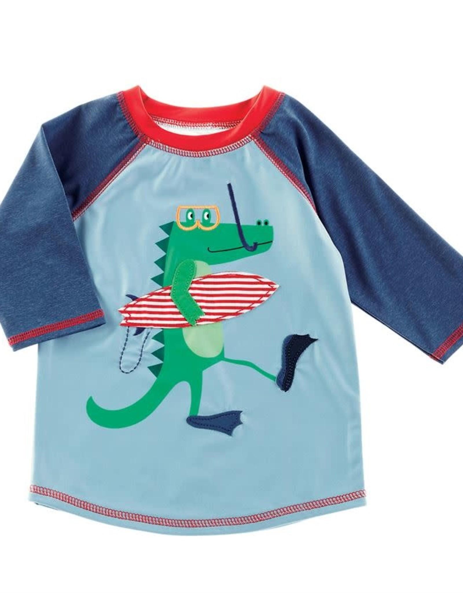 Alligator swim trunks w/rashguard