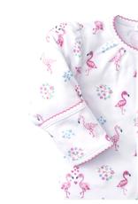 Kissy Kissy Flowering Flamingos Footie