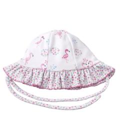 Kissy Kissy Flowering Flamingos Floppy Hat
