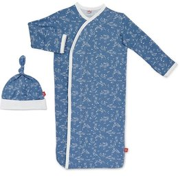 Magnificent Baby Blue Sky Bunny Modal Gown Set NB-3m