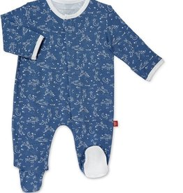 Magnificent Baby Blue Sky Bunny Modal Magnetic Footie