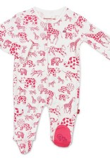 Magnificent Baby Pink Avant Gardimal Organic Cotton Footie