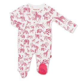 Magnificent Baby Pink Avant Gardimal Organic Cotton Footie