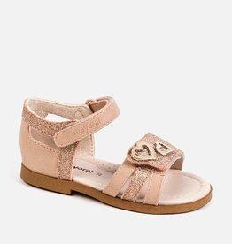 Mayoral Footwear Copper Sandal w/heart