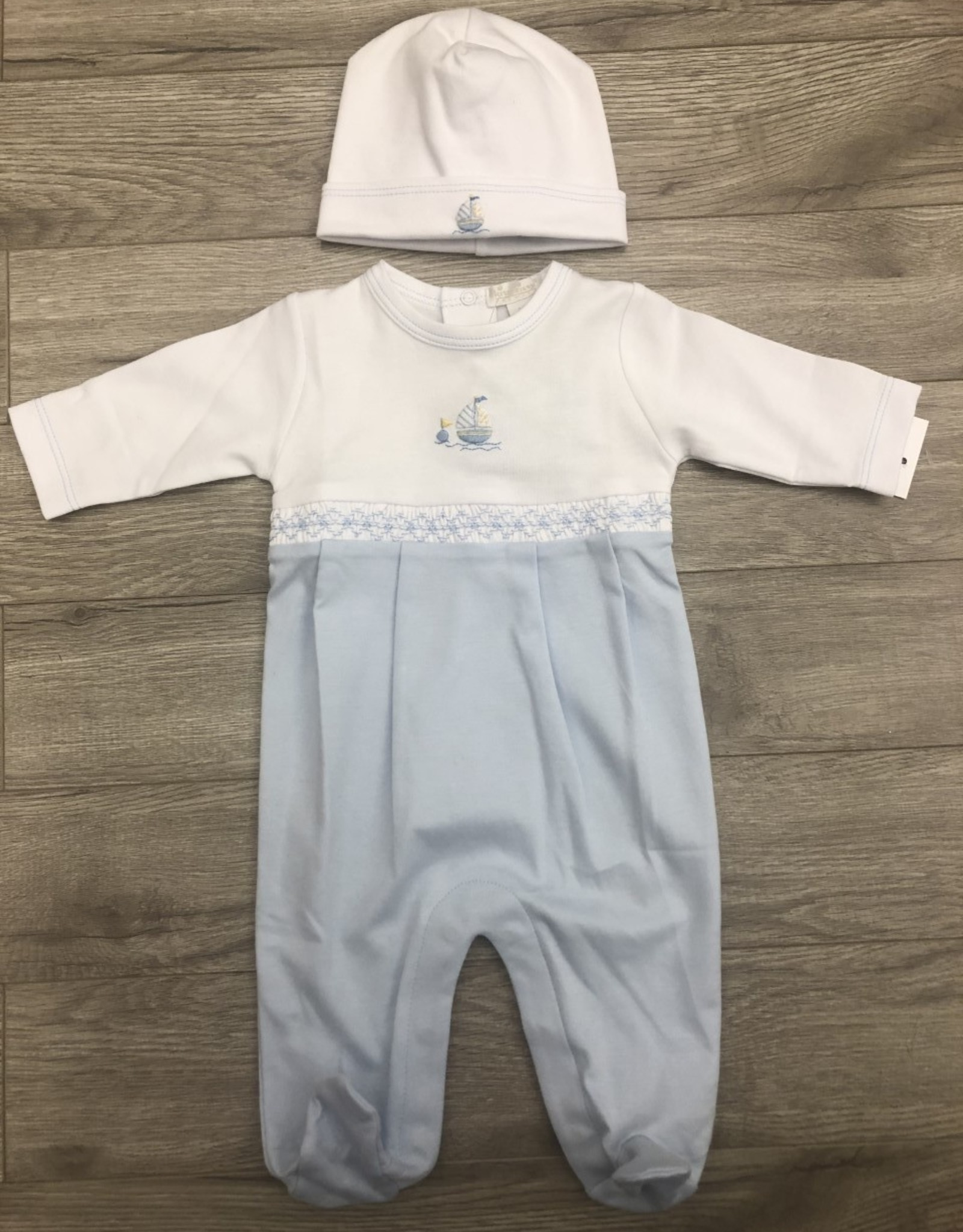 Kissy Kissy Sailboat Footie Set NB Kissy Kissy