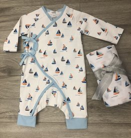 Boats Wrap Coverall Set 0-3M Angel Dear