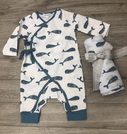 Whales Coverall Blanket Set 0-3M Angel Dear
