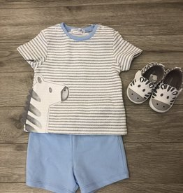 Zebra Short Set and Sneakers 6M Mayoral