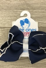 Navy Dress Set Gift w/Hair Bow 6-9M