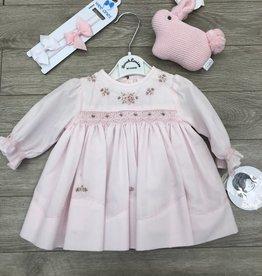 Sarah Loiuse Pink Smocked Dress Gift Set NB Sarah Louise